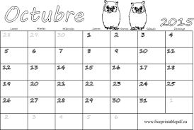imagenes calendario octubre 2015 para imprimir octubre 2015 calendario en blanco blanco y negro imprimir el pdf