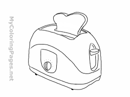 toaster coloring pages