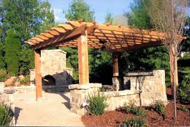 outdoor decks pergolas covered patios austin backyard fireplace