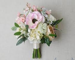 wedding flower bouquets silk flower bouquet etsy