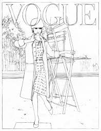 fashion model coloring pages maria u0027s style planet vogue goes pop fashion coloring