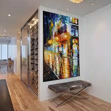 Peinture Moderne Pour Salon by Avenue Colorful Trees Palette Knife Peinture à L U0027acrylique Sur