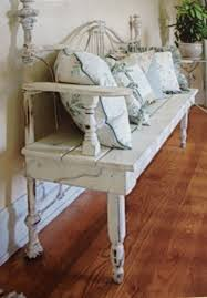 how to make a bed headboard diy repurposed metal headboard bench southern revivals