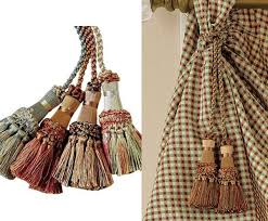 Large Drapery Tassels Accessorize Curtains With 15 And Tassel Tiebacks Home