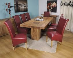 Brown Leather Dining Room Chairs Red Leather Dining Chairs For Dining Room Design