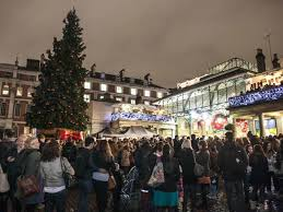 covent garden christmas lights switch on london in pictures