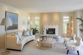 living room cream sectional sofa lamp shade decor houseplant
