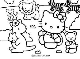 pets coloring page hello kitty and pets coloring pages hellokids com