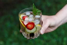light and bubbly pimm u0027s punch cocktail with food love