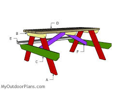 Wood Picnic Table Plans Free by 6 Foot Picnic Table Plans Myoutdoorplans Free Woodworking