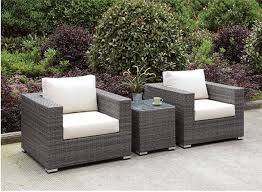 Grey Wicker Patio Furniture by Outdoor Patio Furniture