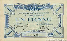chambre des commerces dunkerque 1 franc regionalism and miscellaneous dunkerque 1918 jp