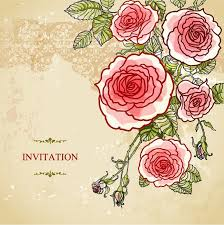 Wedding Flowers Background Wedding Flower Vector