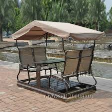 modern 4 seats right left movable outdoor swing chair adult hammock