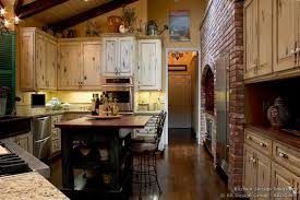 Trendy Antique White Country Kitchen Cabinets Stunning Shelves On - Country cabinets for kitchen
