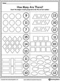 count and match 6 through 10 printable worksheets count and