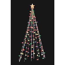 home accents 7 ft cone tree with 105 multi color lights