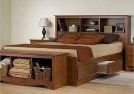 Bed Frames Storage Wooden Bed Frame With Storage Modern Bedroom Furniture