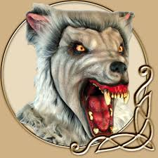 Werewolf Mask Werewolf Mask Snow Wolf Thevikingstore Co Uk