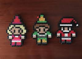 buddy the elf inspired 8 bit perler set magnets ornaments and