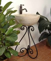ornamental iron bathroom sink stand vessel sink stand pancho