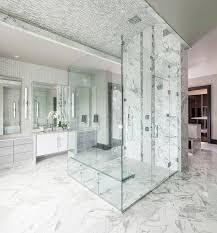 contemporary master bathroom with ceramic tile by alana villanueva