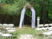 wedding arches using tulle floral festivities decorating your wedding arch