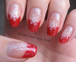 Music Nail Art Design Snowflake French Tip Nails Displaying 16 U003e Images For Red French