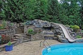 Backyard Pool With Slide - 16 amazing swimming pool slides