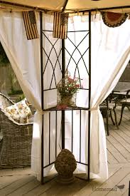 Outdoor Gazebo With Curtains by Homeroad Diy Outdoor Canopy Curtains