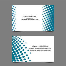 business card layout in vector format domain vectors