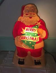 noma lites plastic stand up santa light by blackkatkollectibles