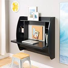 wall mounted desk amazon amazon com prepac wall mounted floating desk with storage in white