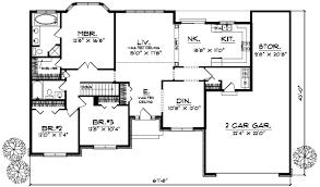 ranch style homes floor plans floor plan bedroom garage bungalow bathroom house open walkout