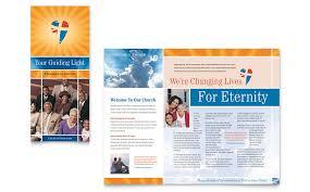 evangelical church brochure template word u0026 publisher