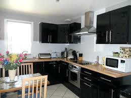cuisine noir laqué pas cher meuble cuisine noir laquac meuble four encastrable 11 meuble de