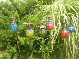 metal decorative garden stakes landscaping backyards ideas how