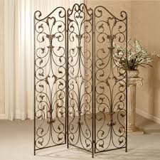 Tri Fold Room Divider Screens Marvelous Folding Screens Room Divider With Wrought Iron