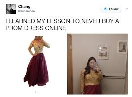 girls are sharing photos of their awful online prom dress