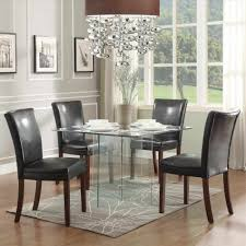 acrylic thick dining six chair contemporary room set six