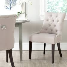 Dining Chairs Drummond Beige Linen Hardwood Dining Chairs Set Of 2 Walmart Com
