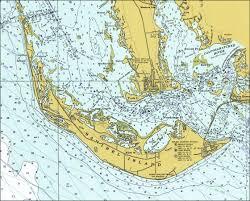 Map Of Estero Florida by Sanibel Island 1977