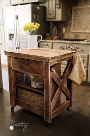 kitchen island inspired by pottery barn rolling kitchen island