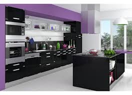 deco cuisine violet salon violet et noir noir decoration salon et