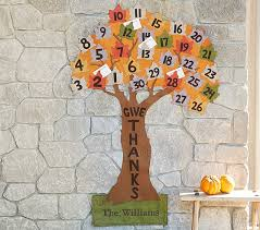 give thanks tree countdown calendar pottery barn