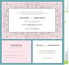 Rsvp Invitation Card Wedding Invitation Card With A Outline Pattern And R S V P Stock