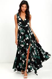 flower dress lovely black dress floral print dress maxi dress 149 00