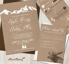 mountain wedding invitations mountain wedding invitations lilbibby