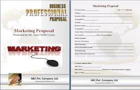 marketing proposal template free proposal templates