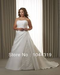plus size wedding dress with jacket taffeta with lace a line short